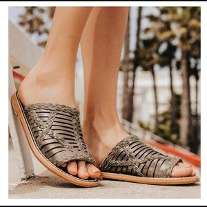 Freebies by Steven Willow Leather Braided Sandals
